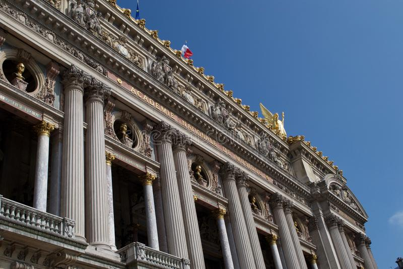 Entrée au Palais Garnier - Academie Nationale De Muisque - opéra France de Paris photographie stock