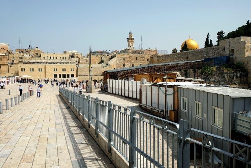 Entrée au pont du Maghreb et au mur occidental dans le vieux images stock