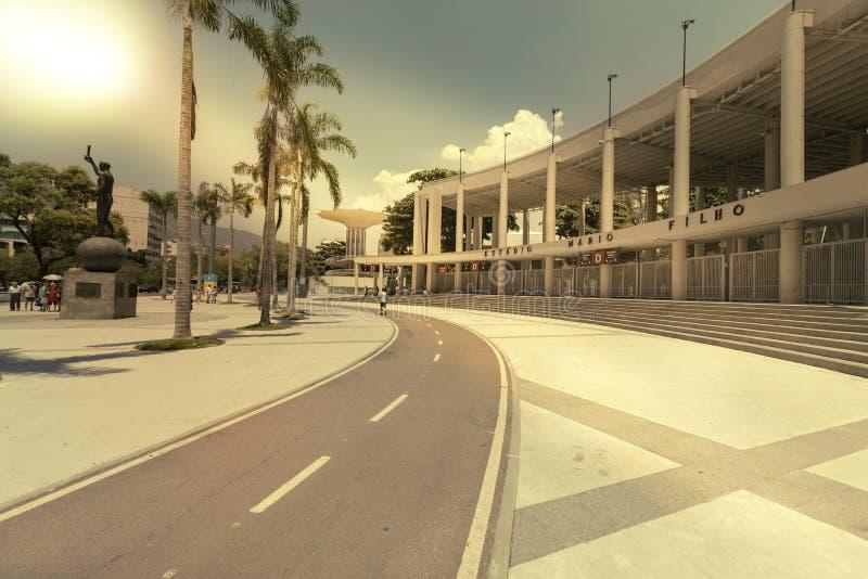 Entrée au stade de football du football de Maracana en Rio de Janeiro image stock