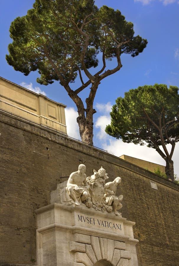 Entrée aux musées de Vatican, Rome, Italie images libres de droits
