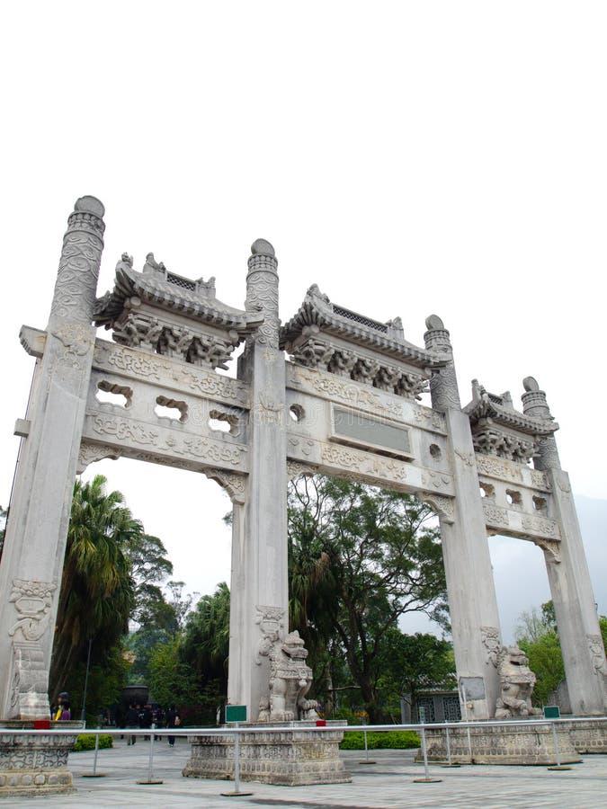 Entrée chinoise de temple d'Acient images libres de droits