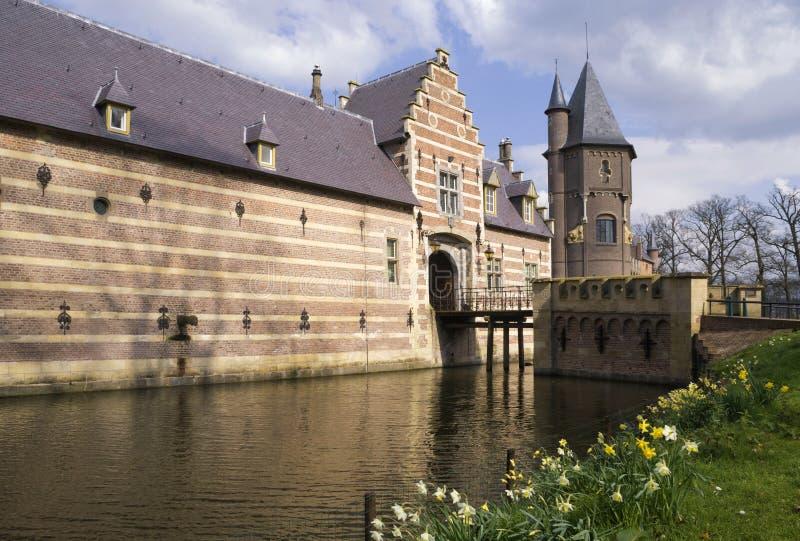 Entrée construisant le château de Heeswijk image libre de droits