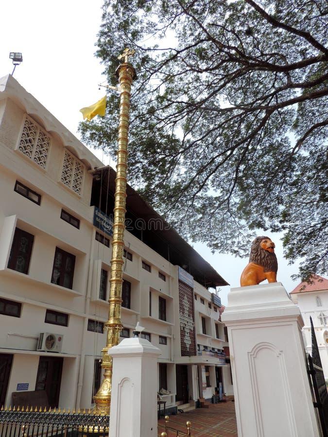 Entrée d'église au Kerala, Inde photos libres de droits