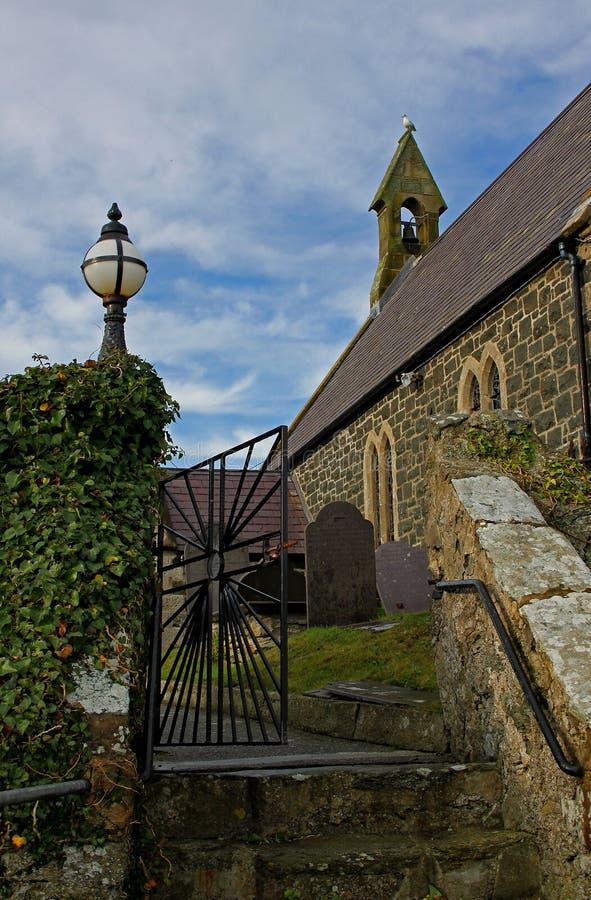 Entrée d'église, Rhoscolyn, Anglesey, Pays de Galles images stock