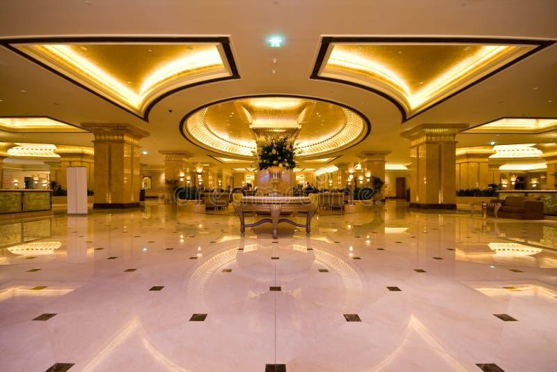 Entrée d'hôtel de palais d'Emirats image stock