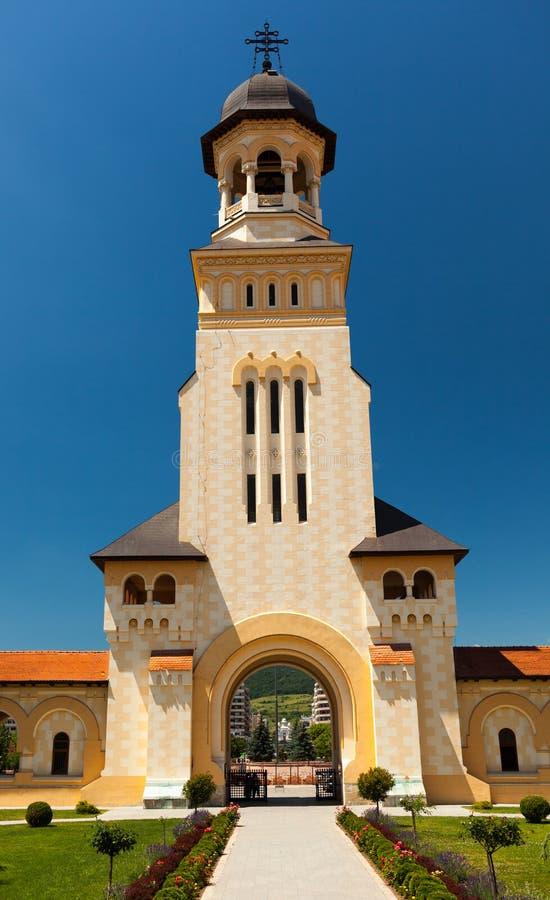 Entrée dans la cathédrale de couronnement d'Iulia alba photo libre de droits