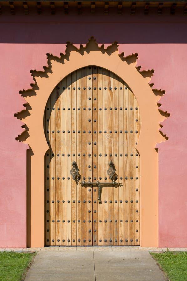 Entrée dans la cour marocaine. image stock