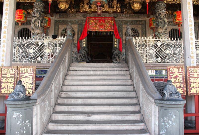 Entrée dans le temple de Khoo Kongsi, Georgetown, Penang, Malaisie images libres de droits