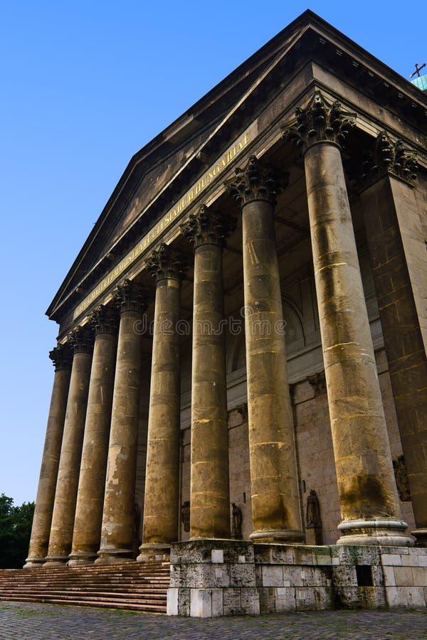Entrée de basilique d'Esztergom photo stock