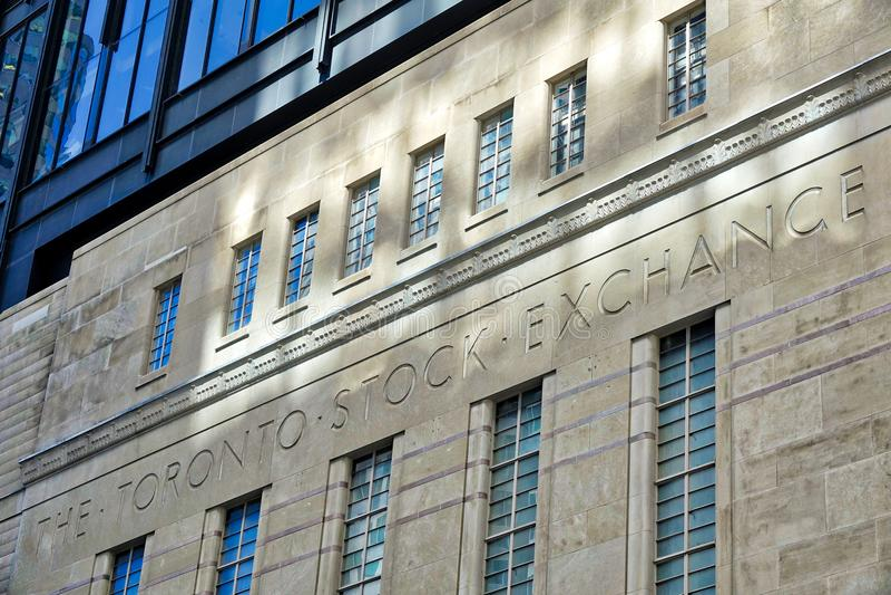 Entrée de bourse des valeurs de Toronto à Toronto image stock