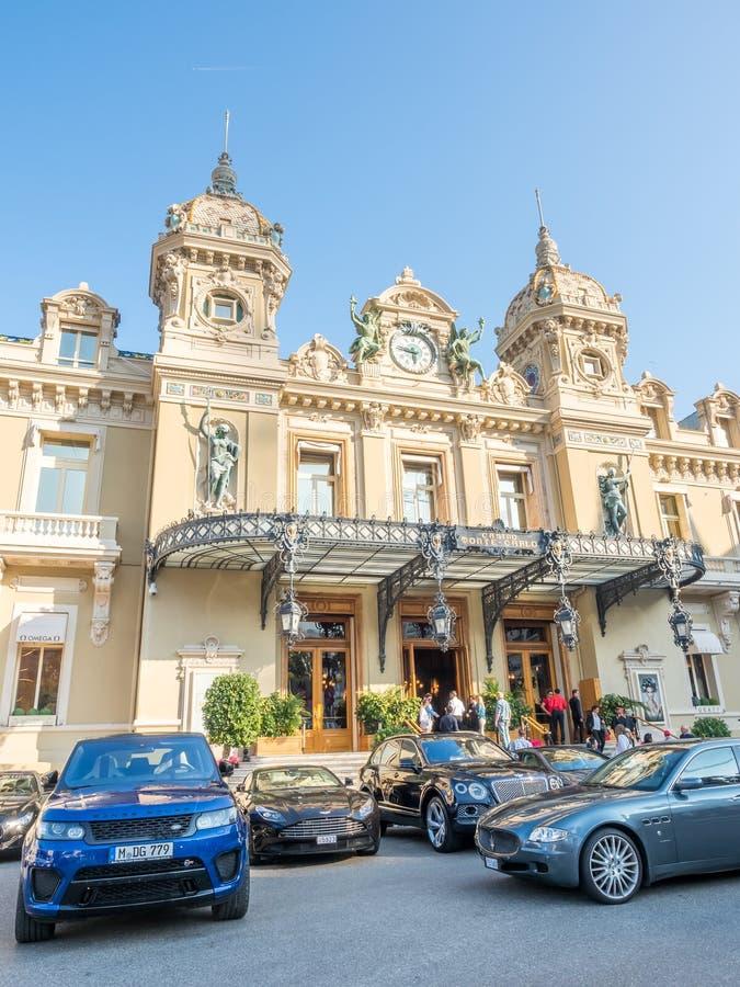 Entrée de casino Monte Carlo, Monaco image libre de droits