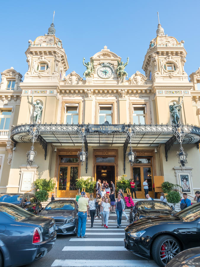 Entrée de casino Monte Carlo, Monaco images stock