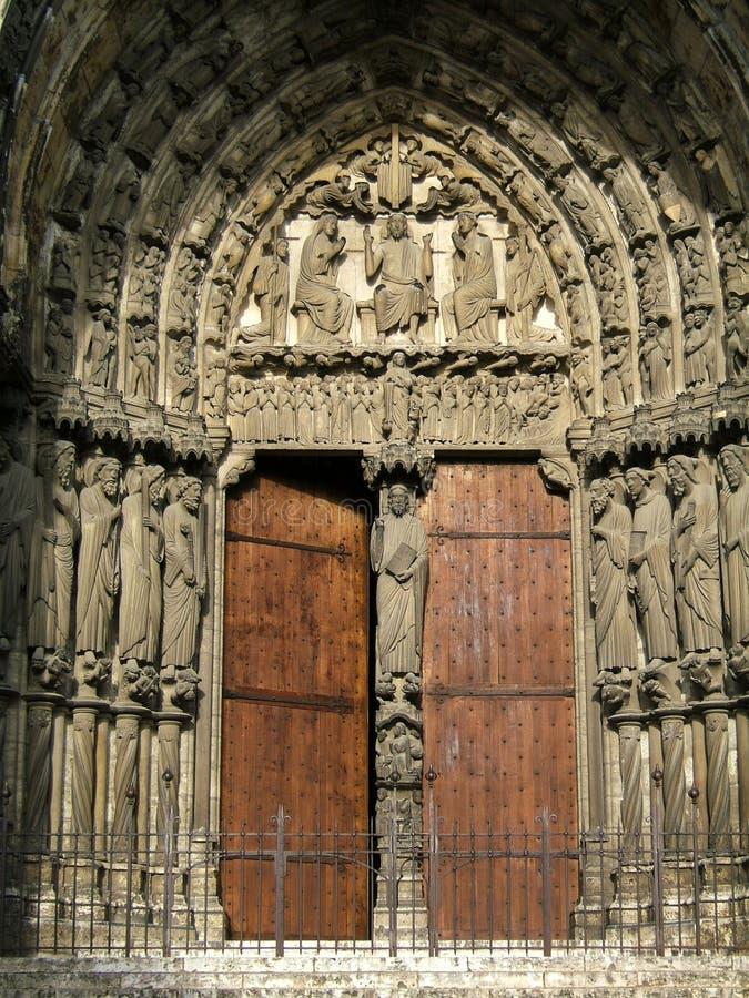 Entrée de cathédrale photo stock