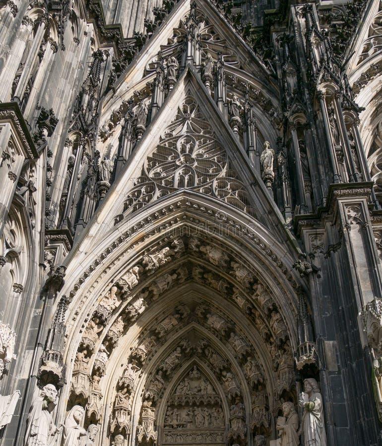 Entrée de cathédrale de Cologne, Rhénanie-du-Nord-Westphalie, Allemagne photo stock