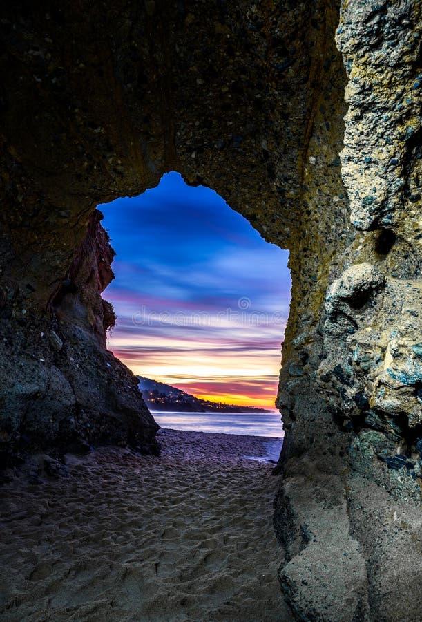 Entrée de caverne de mer de Laguna image libre de droits