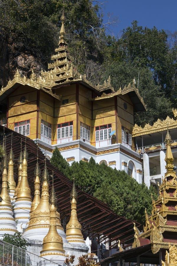 Entrée de caverne de Pindaya - Pindaya - Myanmar photos stock