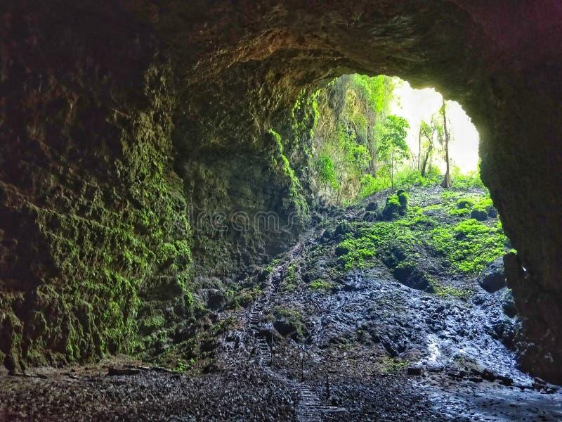 Entrée de caverne de Jomblang images stock