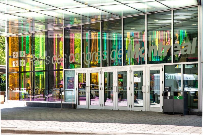 Entrée de centre de convention de Montréal, Montréal, Canada photographie stock
