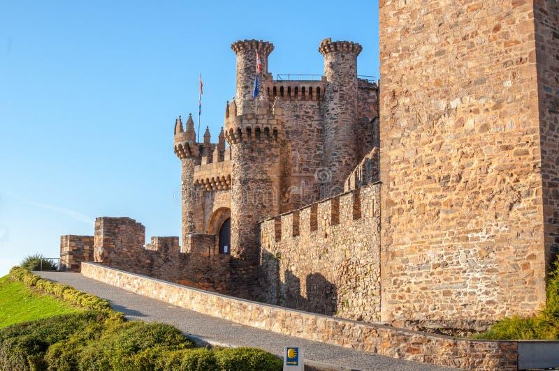 Entrée de château de Ponferrada images stock