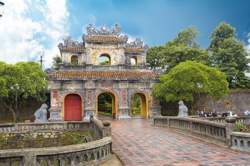 Entrée de citadelle de Hue photo libre de droits