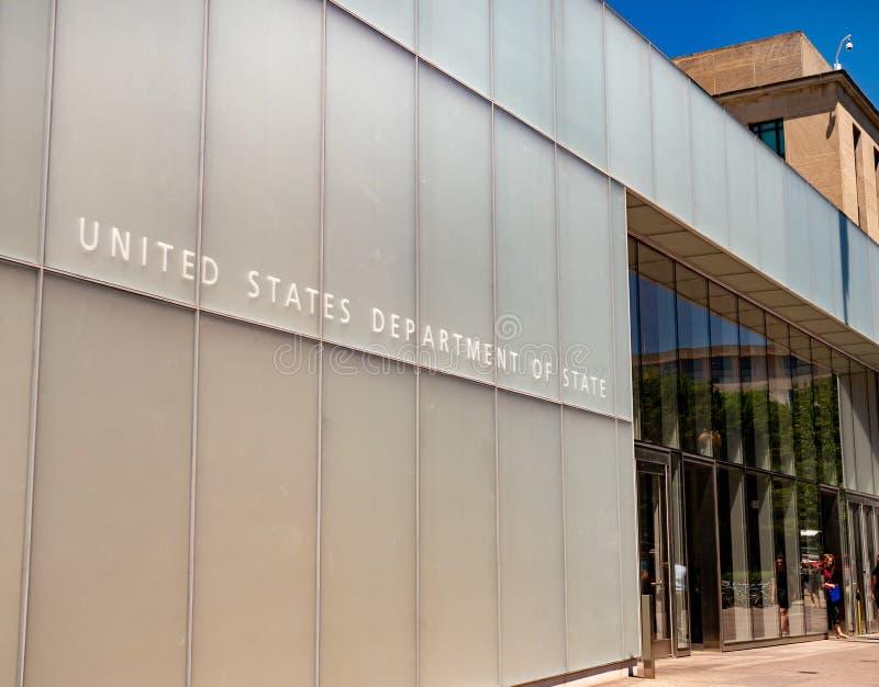 Entrée de Département d'État des Etats-Unis à la construction, moderne photo stock