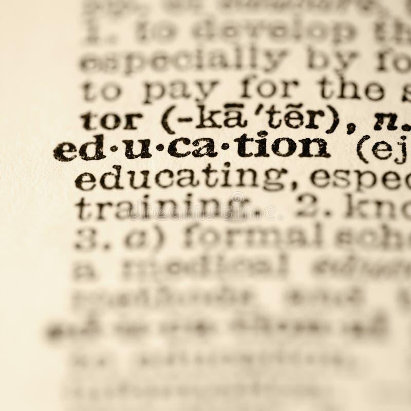 Entrée de dictionnaire d'éducation. photos stock
