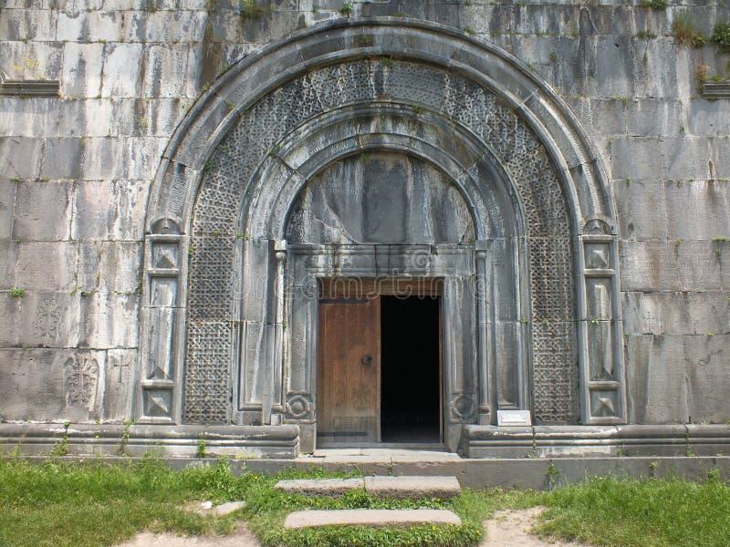 Entrée de Gavit, monastère de Haghpat photos stock