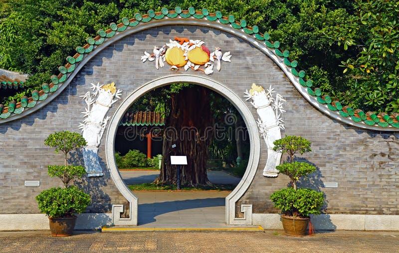 Entrée de jardin de zen photo libre de droits