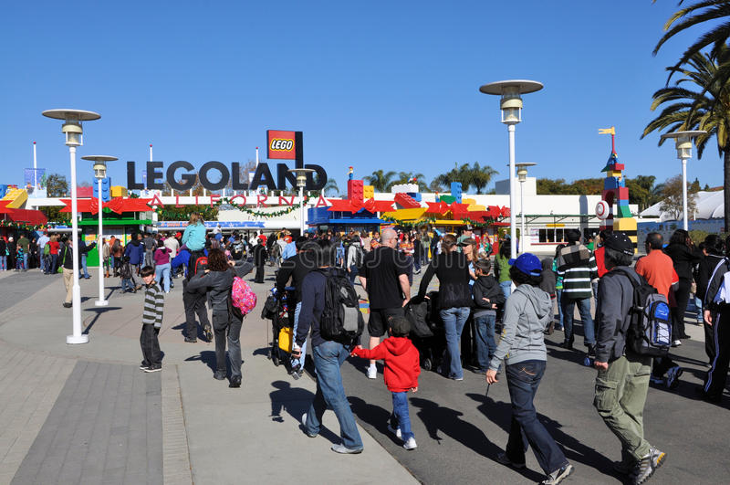 Entrée de Legoland photos stock