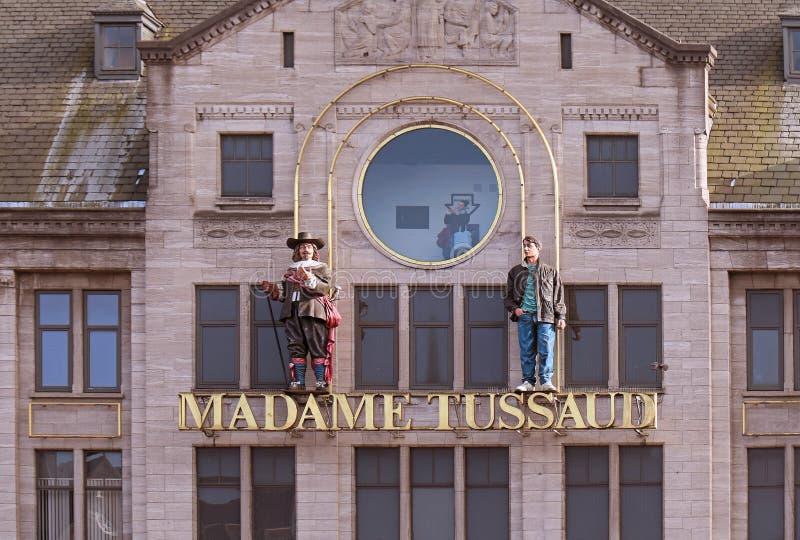 Entrée de Madame Tussaud à Amsterdam photographie stock libre de droits