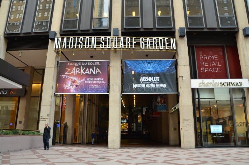 Entrée de Madison Square Garden photo libre de droits