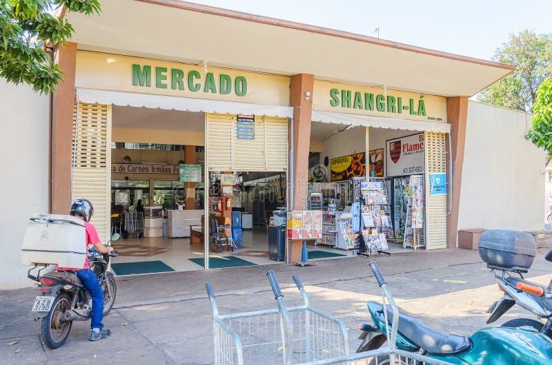 Entrée de marché municipal connue sous le nom de Shangri-La image stock
