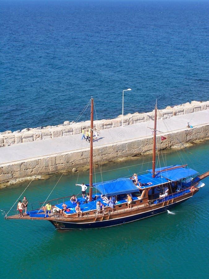 Entrée de marina de Girne (Kyrenia) photos libres de droits