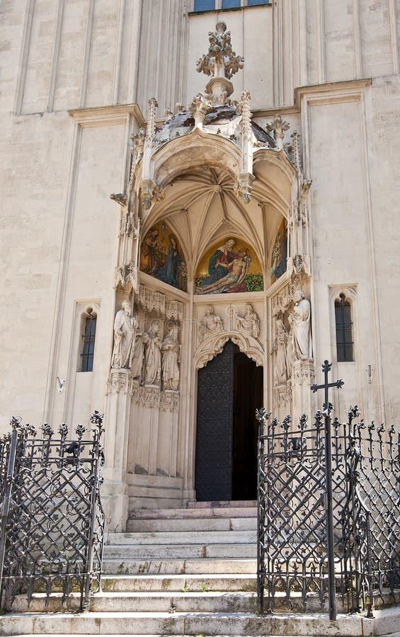 Entrée De Mary à L église De Rivage (1414). Vienne, Autriche Image libre de droits