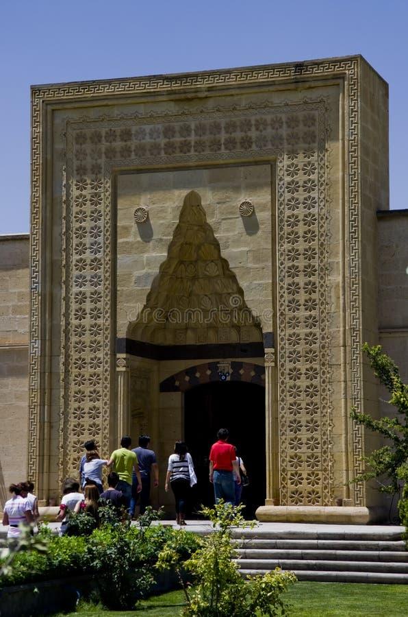 Entrée de mosquée dans la ville de touristes d'Avanos Exemple d'islami image libre de droits