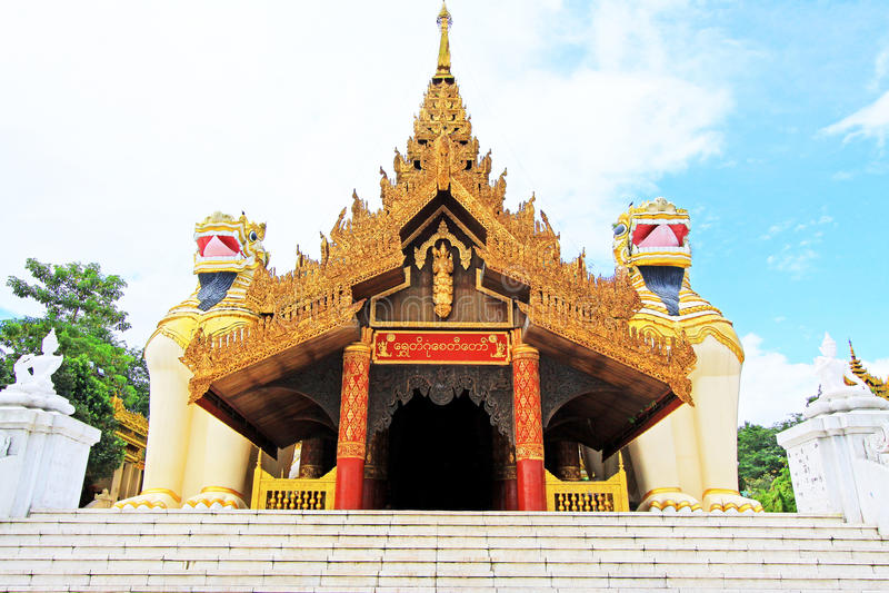 Entrée de pagoda de Shwedagon, Yangon, Myanmar photographie stock
