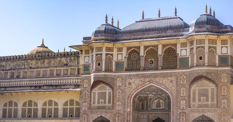 Entrée de palais de ville de Jaipur - arque Windows photo libre de droits