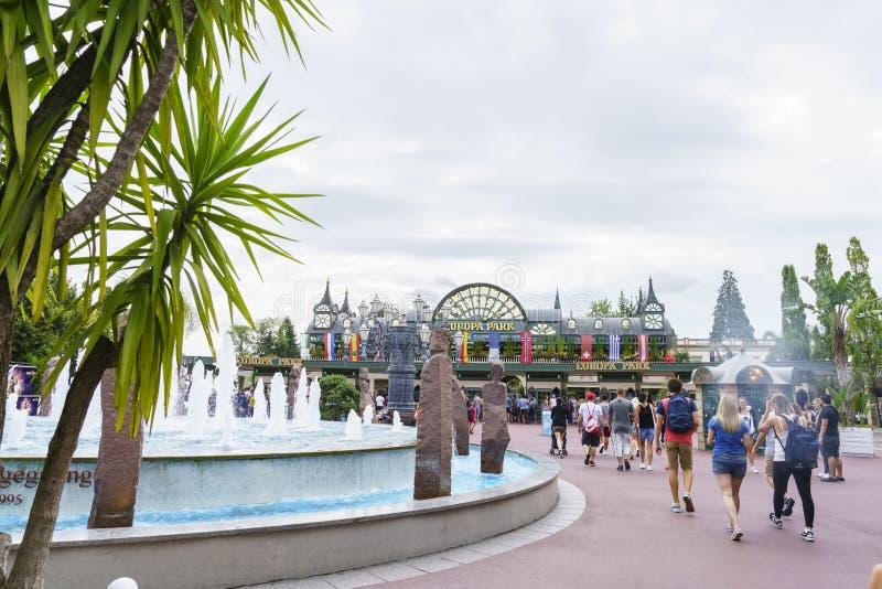 Download Entrée De Parc D'Europa Dans La Rouille, Allemagne Image éditorial - Image du coloré, diamant: 77157875
