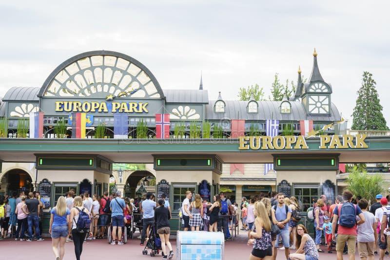 Entrée de parc d'Europa dans la rouille, Allemagne photo libre de droits