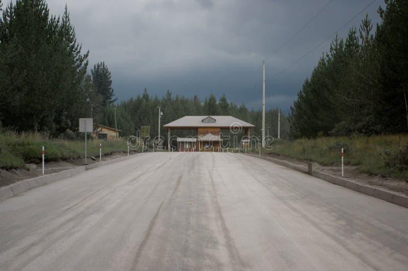 Entrée de parc national du Cotopaxi, Equateur image stock