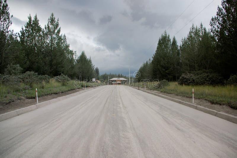 Entrée de parc national du Cotopaxi, Equateur photographie stock