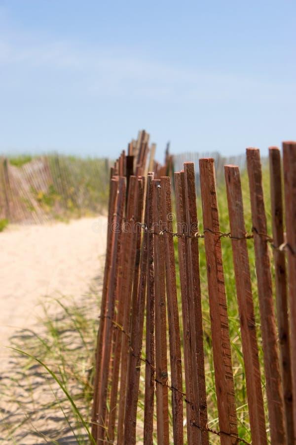 Entrée de plage photo stock