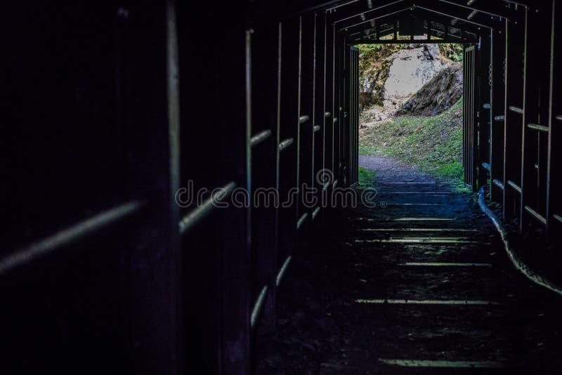 Entrée de puits de mine d'Ohkubo, Shimane, Japon photo stock