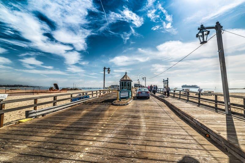 Entrée de quai de Stearns en Santa Barbara image stock