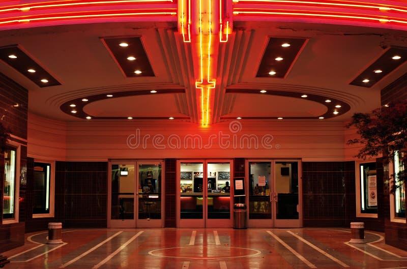 Entrée de salle de cinéma de cru photographie stock
