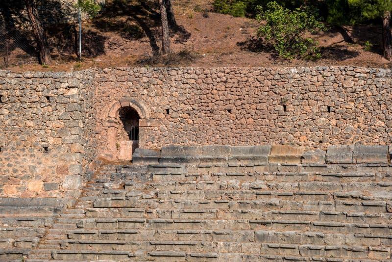 Entrée de stade au site antique de Delphes, Grèce photographie stock libre de droits