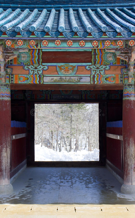 Entrée de temple images libres de droits