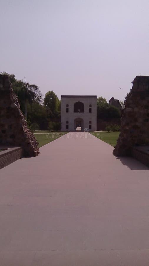 Entrée de tombe de Humayuns à Delhi, Inde images libres de droits