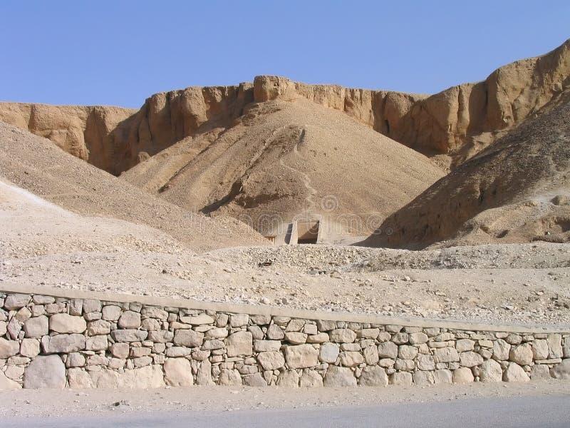 Entrée de tombeau. Vallée des rois, Luxor, Egypte images libres de droits