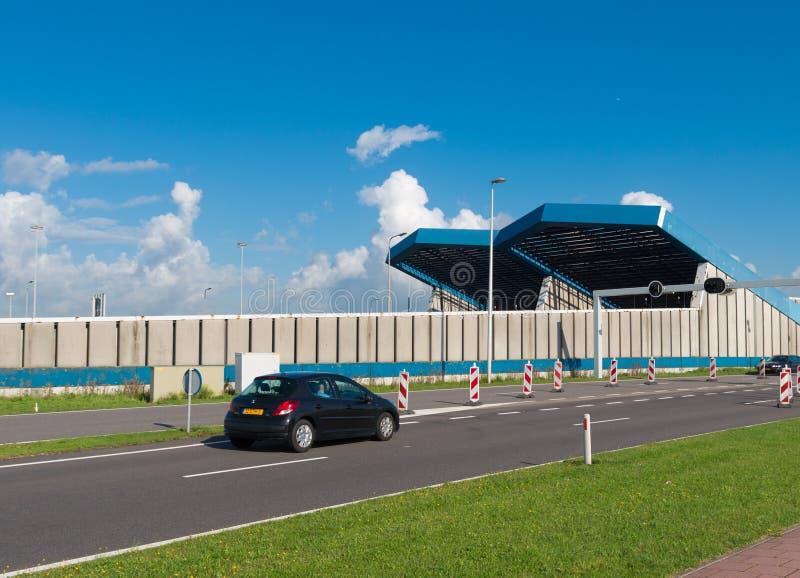 Entrée de tunnel de Schiphol images stock